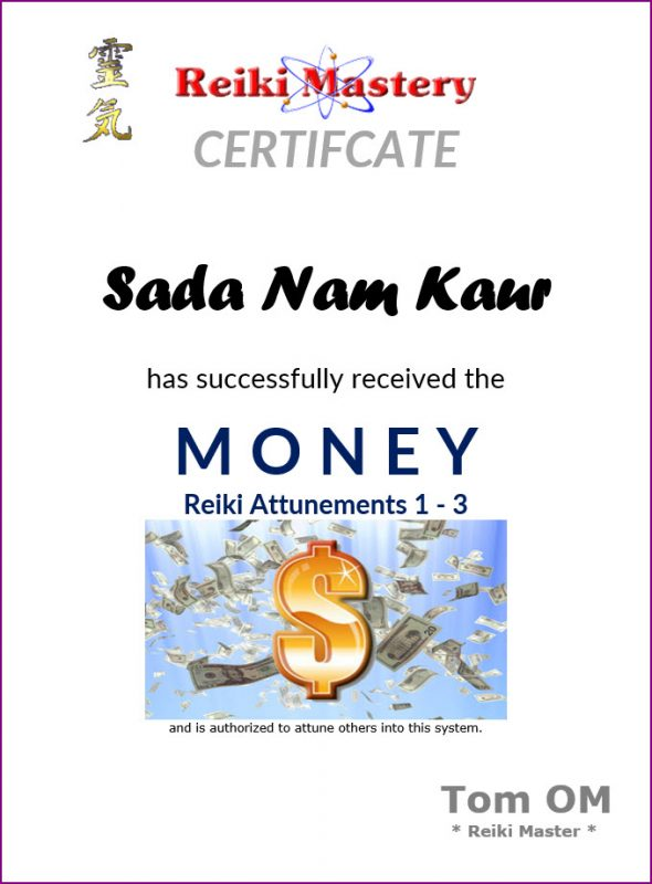 money-reiki-master